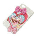 Bling Swarovski crystal cases Bowknot diamond covers for iPhone 5S - Rose