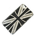 Bling Swarovski crystal cases Britain flag diamond covers for iPhone 5S - Black