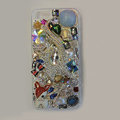 Bling Swarovski crystal cases Cat diamond cover for iPhone 5S - Blue