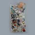 Bling Swarovski crystal cases Gril diamond covers for iPhone 5S - Pink