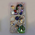 Bling Swarovski crystal cases Heart diamond cover for iPhone 5S - Green