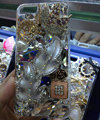 Bling Swarovski crystal cases Leafs diamond cover for iPhone 5S - Silver