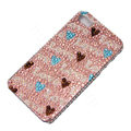 Bling Swarovski crystal cases Love diamond covers for iPhone 5S - Pink