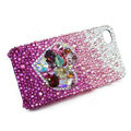 Bling Swarovski crystal cases Love heart diamond covers for iPhone 5S - Purple