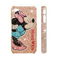 Bling Swarovski crystal cases Minnie Mouse diamond covers for iPhone 5S - Pink