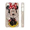 Bling Swarovski crystal cases Minnie Mouse diamond covers for iPhone 5S - White