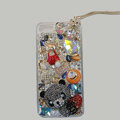Bling Swarovski crystal cases Panda diamond cover for iPhone 5S - Black