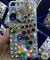 Bling Swarovski crystal cases Peacock diamonds cover for iPhone 5S - White