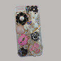 Bling Swarovski crystal cases Pumpkin Trojan diamond cover for iPhone 5S - Pink