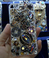 Bling Swarovski crystal cases Saturn diamond cover for iPhone 5S - Black