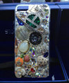 Bling Swarovski crystal cases Saturn diamond cover for iPhone 5S - Green