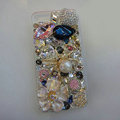 Bling Swarovski crystal cases Spider diamond cover for iPhone 5S - White