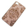 Bling Swarovski crystal cases diamond covers for iPhone 5S - Brown