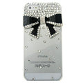Bowknot diamond Crystal Cases Bling Hard Covers for iPhone 5S - Black