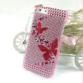 Butterfly diamond Crystal Cases Bling Hard Covers for iPhone 5S - Pink