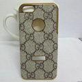 GUCCI leather Cases Luxury Hard Back Covers Skin for iPhone 5S - Brown