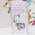 Hello Kitty Side Flip leather Cases Holster Cover Skin for iPhone 5S - Pink