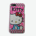 Hello kitty diamond Crystal Cases Bling Hard Covers for iPhone 5S - Rose