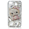 Hello kitty diamond Crystal Cases Luxury Bling Covers for iPhone 5S - Pink