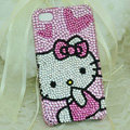 Hello kitty diamond Crystal Cases Luxury Bling Hard Covers for iPhone 5S - Pink