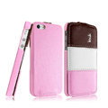 IMAK Chocolate Series leather Case Holster Cover for iPhone 5S - Pink