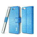 IMAK Slim leather Case support Holster Cover for iPhone 5S - Blue