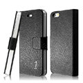 IMAK Slim leather Cases Luxury Holster Covers for iPhone 5S - Black