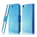 IMAK Slim leather Cases Luxury Holster Covers for iPhone 5S - Blue
