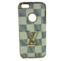LOUIS VUITTON LV Luxury leather Cases Hard Back Covers Skin for iPhone 5S - Beige