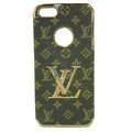 LOUIS VUITTON LV Luxury leather Cases Hard Back Covers Skin for iPhone 5S - Brown