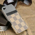 LV LOUIS VUITTON Ultrathin Metal edge Hard Back Cases Covers for iPhone 5S - Beige