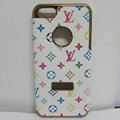 LV LOUIS VUITTON leather Cases Luxury Hard Back Covers Skin for iPhone 5S - White