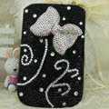 Luxury Bling Holster Covers Bow Crystal diamond Cases for iPhone 5S - Black