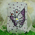 Luxury Bling Holster Covers Butterfly Crystal diamond Cases for iPhone 5S - Purple