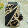 Luxury Bling Holster Covers Crystal diamond leather Cases for iPhone 5S - Gold