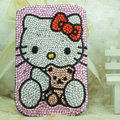 Luxury Bling Holster Covers Hello kitty diamond Crystal Cases for iPhone 5S - Pink EB006