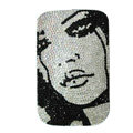 Luxury Bling Holster Covers MICHAEL JACKSON Crystal diamond Cases for iPhone 5S - Black