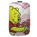 Luxury Bling Holster Covers Winnie the Pooh diamond Crystal Cases for iPhone 5S - Pink