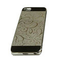 Luxury Plated metal Hard Back Cases Covers for iPhone 5S - Grey