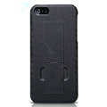 Nillkin Lozenge Hard Cases Skin Covers for iPhone 5S - Black (High transparent screen protector)