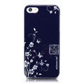 Nillkin Platinum Elegant Hard Cases Skin Covers for iPhone 5S - Butterfly Flower Blue