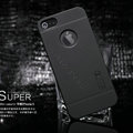 Nillkin Super Matte Hard Cases Skin Covers for iPhone 5S - Black (High transparent screen protector)