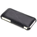 ROCK Dancing Series Side Flip Leather Cases Holster Covers for iPhone 5S - Black