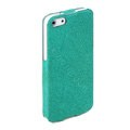 ROCK Eternal Series Flip leather Cases Holster Covers for iPhone 5S - Green