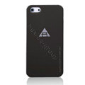 ROCK Naked Shell Cases Hard Back Covers for iPhone 5S - Black