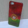 Retro Portugal flag Hard Back Cases Covers Skin for iPhone 5S