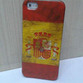 Retro Spain flag Hard Back Cases Covers Skin for iPhone 5S