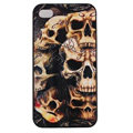 Skull Hard Back Cases Covers Skin for iPhone 5S - Black EB005