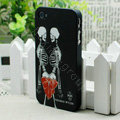 Skull Hard Back Cases Matte Covers Skin for iPhone 5S - Black