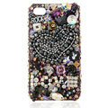 Swarovski Bling crystal Cases Love Luxury diamond covers for iPhone 5S - Black